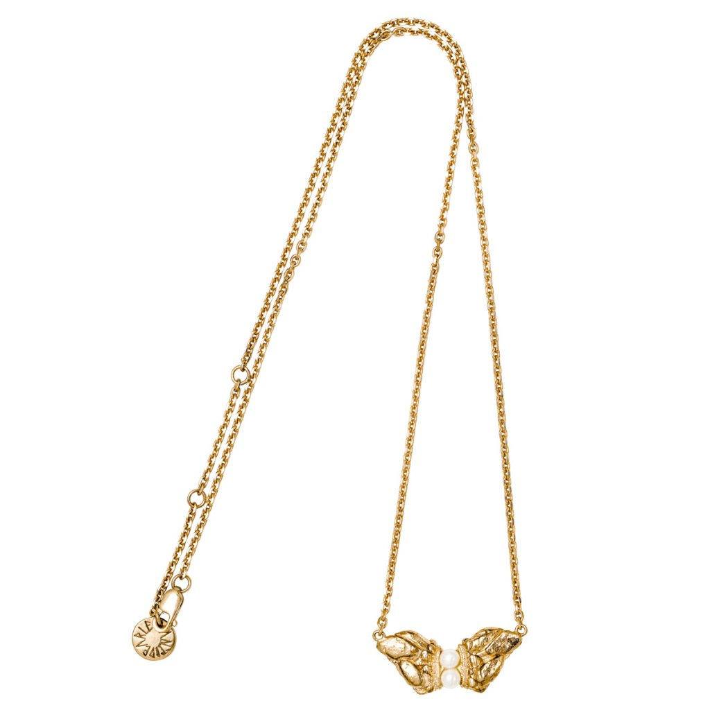 Naia grand pearl necklace - gold-plated silver