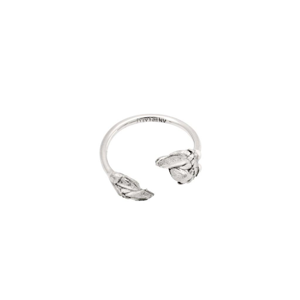 Halia pearl ring A - silver