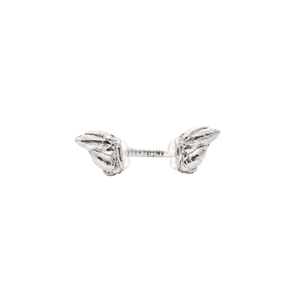 Lyra petite pearl ring - silver