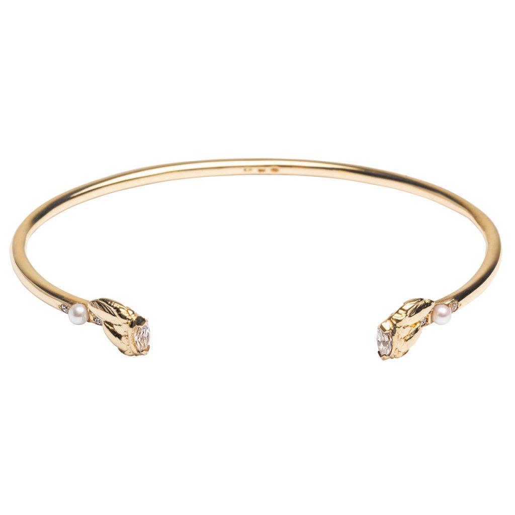 Lyra petite bracelet diamond - 14kt yellow gold