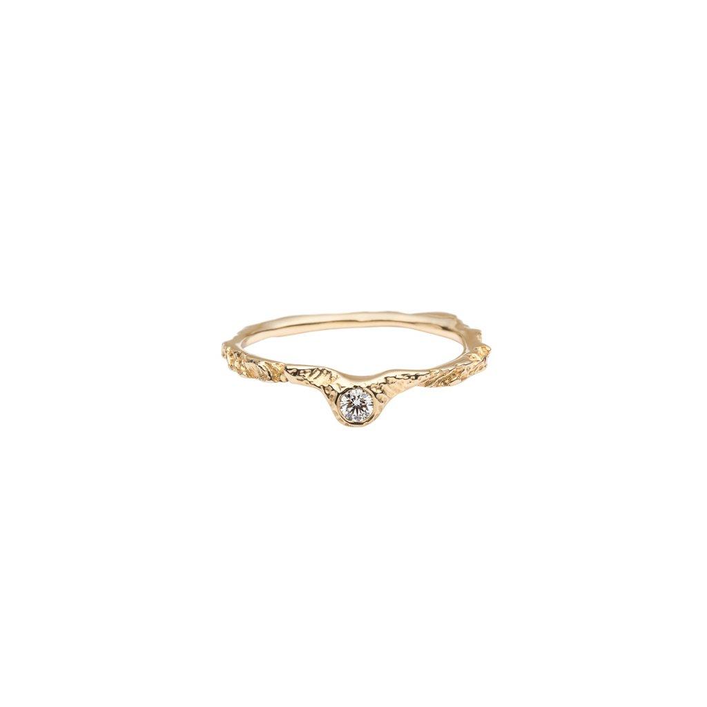 Alskar ring brilliant - 14kt yellow gold