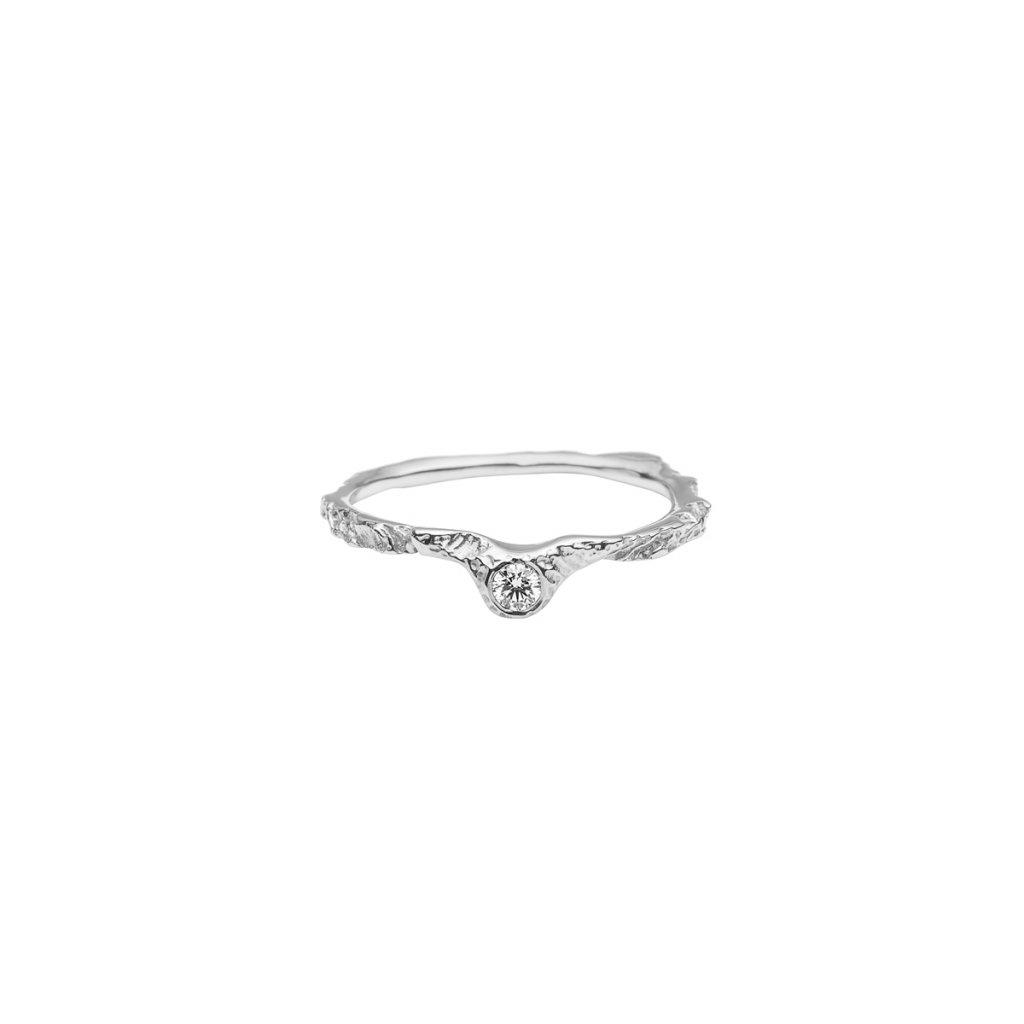 Alskar ring brilliant - 14kt white gold