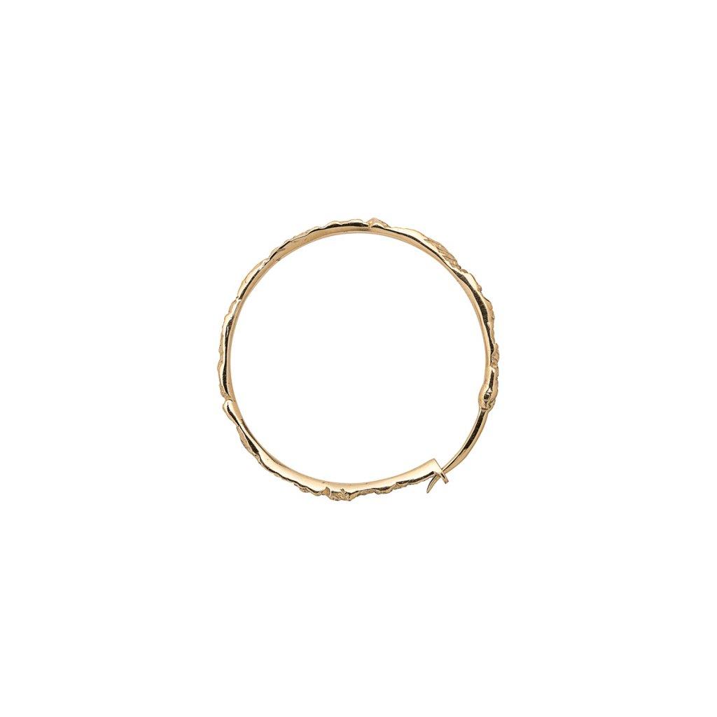 Foam earring D - 14kt yellow gold