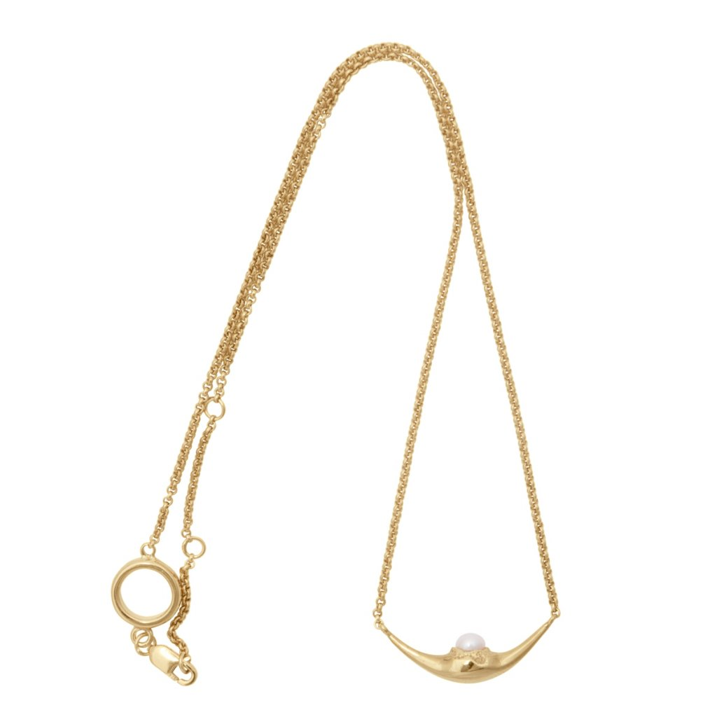 Mini fang necklace - 14kt yellow gold