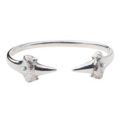 Blacktip bracelet-silver