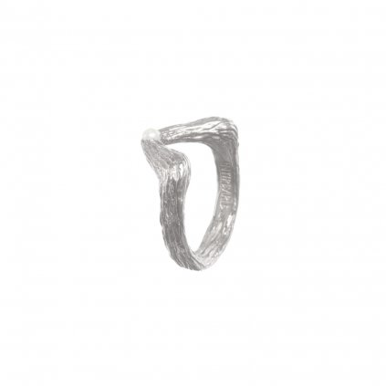 Big tip pearl ring-silver