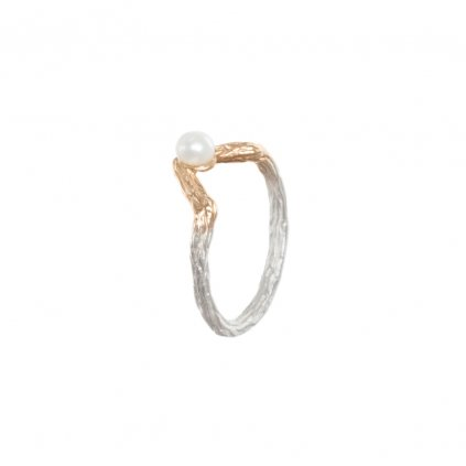Small tip ring-silver/gold