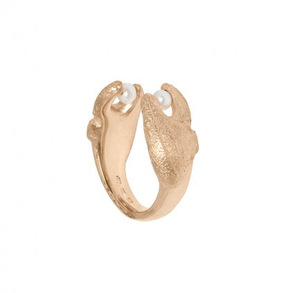 Claw ring - gold-plated silver