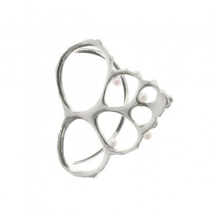 Coral earcuff - silver