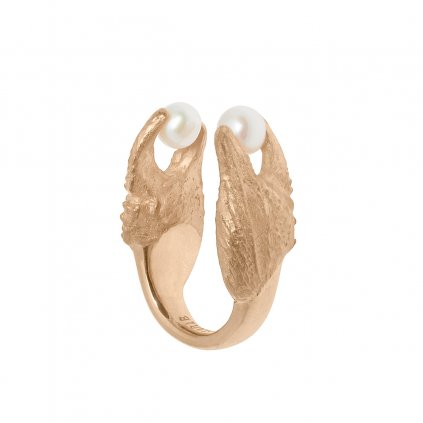 Crab ring - gold-plated silver