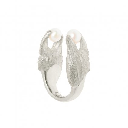 Crab ring - silver