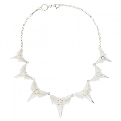 Shark teeth necklace XL - silver
