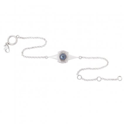 Blacktip chain anklet - silver