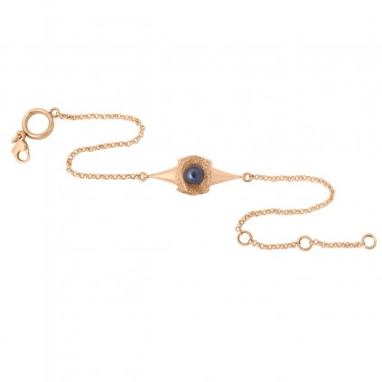 Blacktip chain anklet - gold-plated silver
