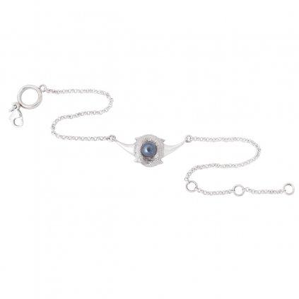 Zambezi chain anklet - silver