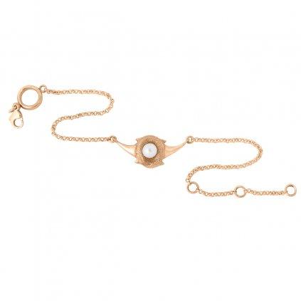 Zambezi chain anklet - gold-plated silver