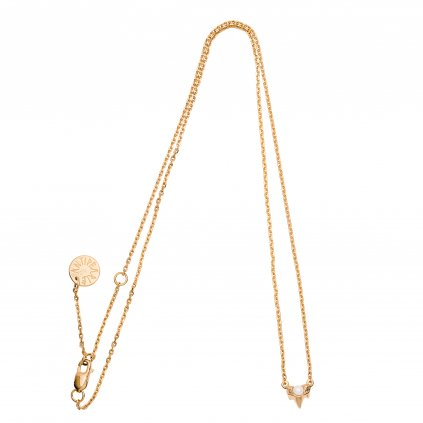Petite A necklace - gold-plated silver