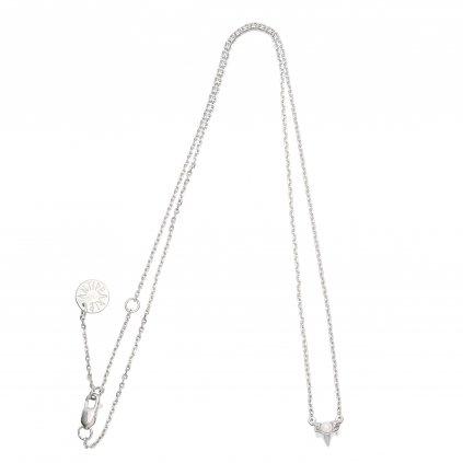 Petite A necklace - silver