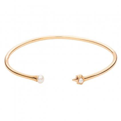 Petite A bracelet - gold-plated silver