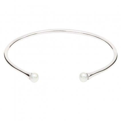 Double pearl bracelet - silver