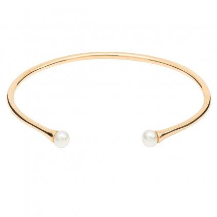 Double pearl bracelet - 14kt yellow Gold