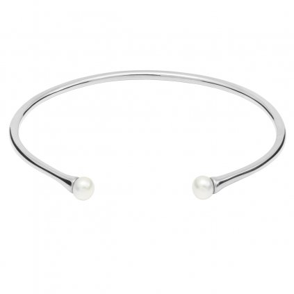 Double pearl bracelet - 14kt white Gold