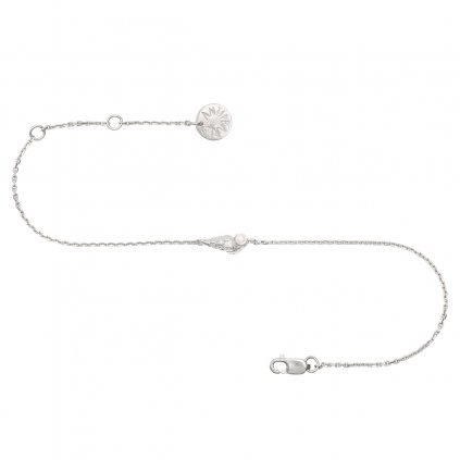 Concha pearl bracelet mini B - silver