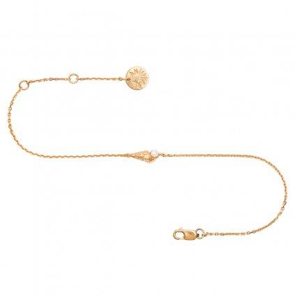 Concha pearl bracelet mini B - gold-plated silver