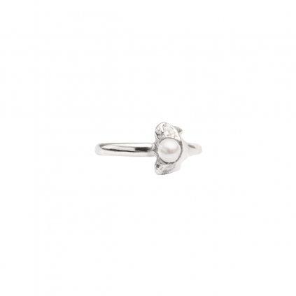 Petite A ear cuff - septum horizontal - silver