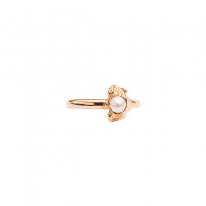 Petite A ear cuff - septum horizontal - gold-plated silver