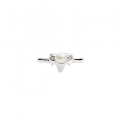Petite A ear cuff - septum vertical - silver