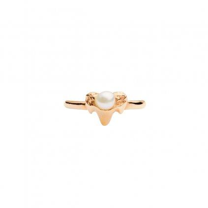 Petite A ear cuff - septum vertical - gold plated silver