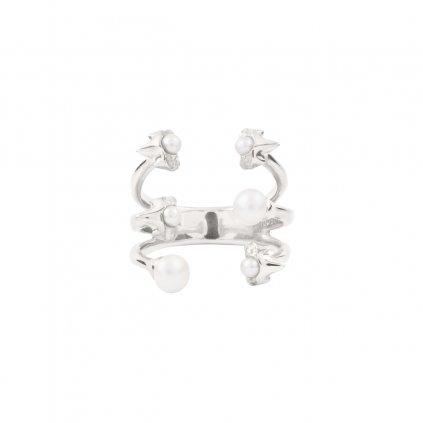 Petite A triple ring - silver