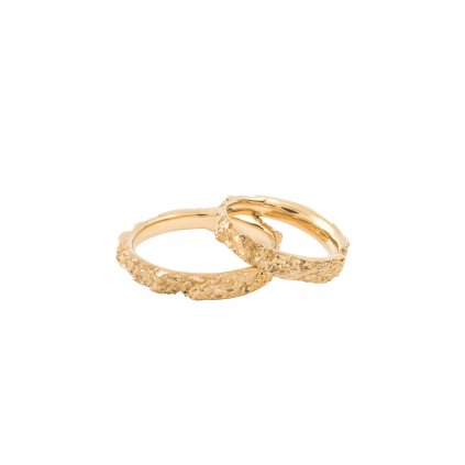 Amour wedding rings - 14kt yellow gold