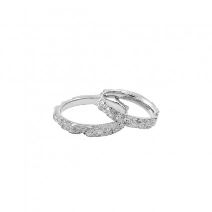 Amour wedding rings - 14kt white gold