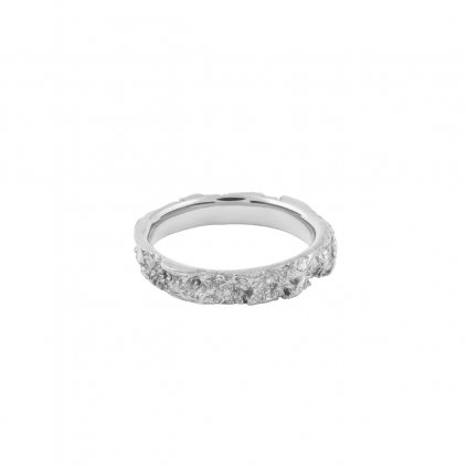 Amour ring - 14kt white gold