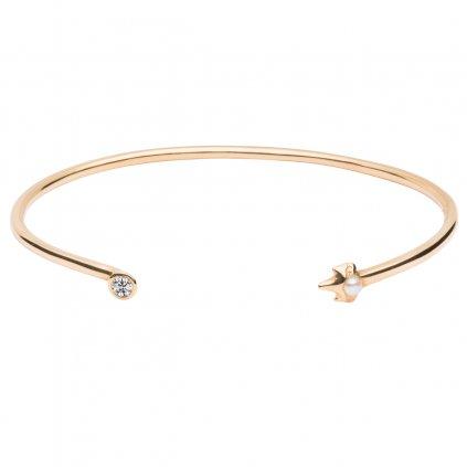 Peite A bracelet brilliant - 14 kt yellow gold