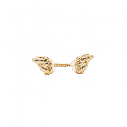 Lyra petite pearl ring - 14kt yellow gold