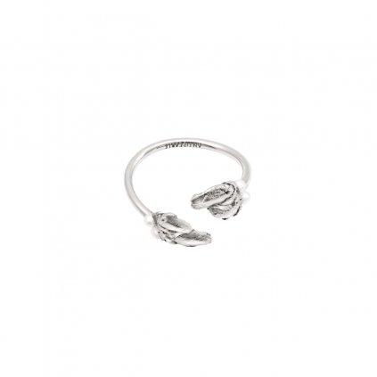Halia pearl ring B - silver
