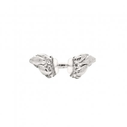 Lyra pearl ring - silver