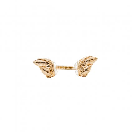 Lyra petite pearl ring - gold-plated silver