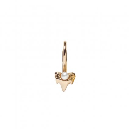 Petite A Baby Earrings - 14kt yellow gold