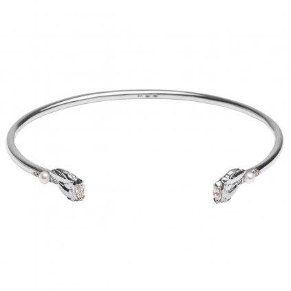Lyra petite bracelet diamond - 14kt white gold
