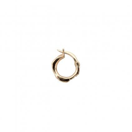 Foam earring A - 14kt yellow gold