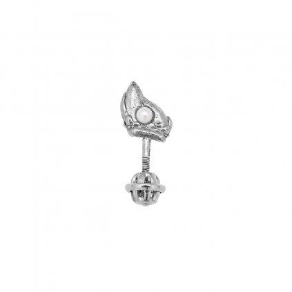 Ava pearl earring B - left - 14 kt white gold