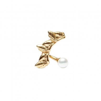 Sirene pearl earring - right - 14 kt yellow gold