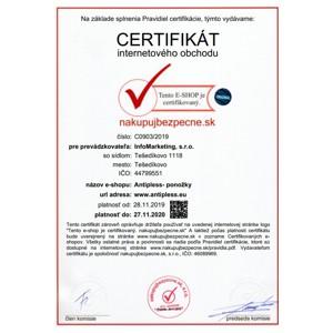 Získali sme certifikát Nakupuj bezpečne