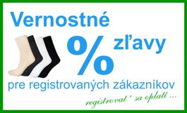Vernostné zľavy pre registrovaných zákazníkov