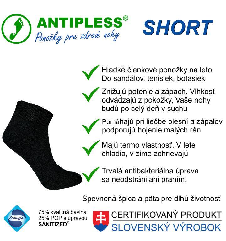Členkové ponožky Antipless Short