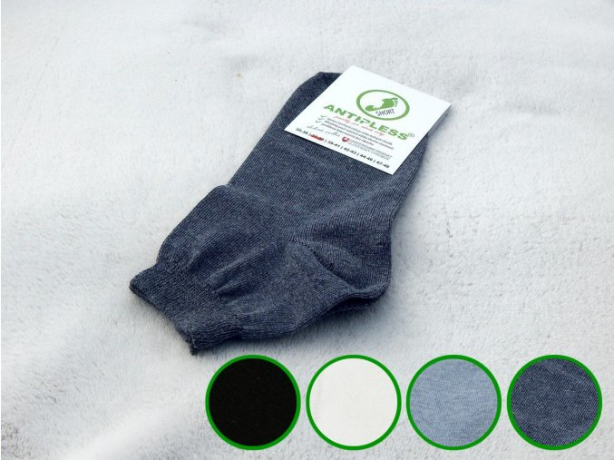 ponozky antipless short 1 farby